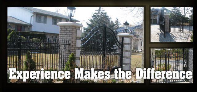 The Difference is Experience | Gated entrance
